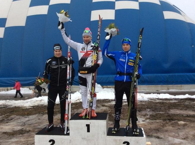 Mitalistit: Kultaa otti Kouvolan hiihtoseuran Lauri Vuorinen. Hopean saavutti Karri Hakala Ylistaron Kilpa-veljistä. Pronssia Waltteri Vinkanharjulle Vantaan hiihtoseurasta.
